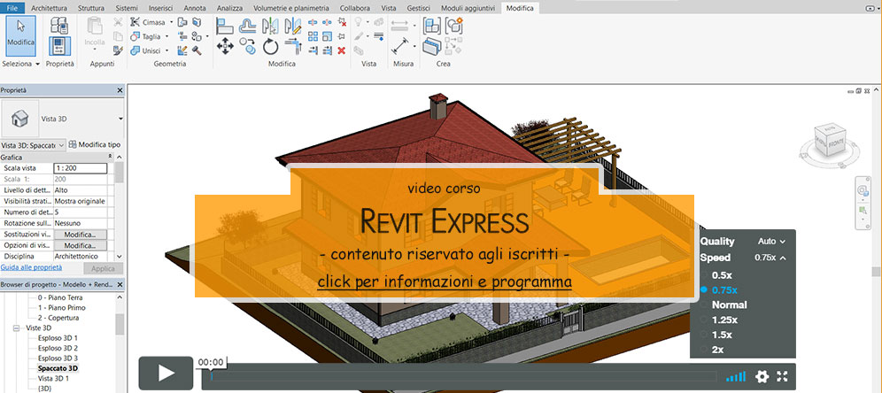 Revit Disegnare scala Revit: rampa e pianerottolo
