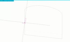 con revit creare cornice tramite estrusione su percorso