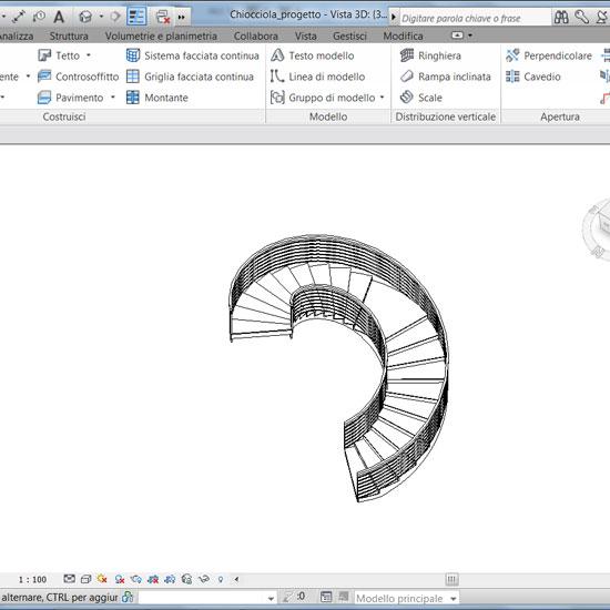 Videocorso revit express iniziare e migliorare con revit for Scala a chiocciola 3d